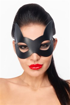 Черная маска  Кошечка  с ушками