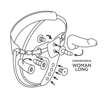 Пояс HARNESS BEST SELECT с вагинальной пробкой