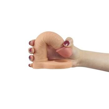 Телесная насадка для двойного проникновения The Ultra Soft Double 6.25 - 15,8 см.