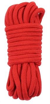 Красная верёвка для любовных игр - 10 м.