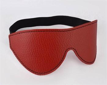 Красная маска с декоративной строчкой на резинке