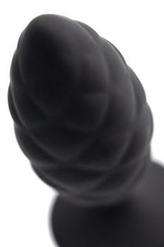 Черная анальная пробка Strob M - 13,5 см.