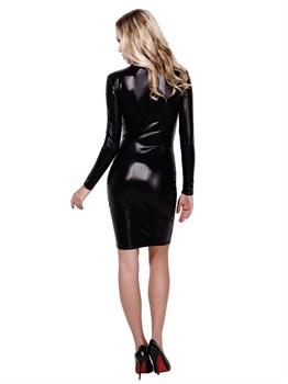 Короткое облегающее платье-карандаш на замочке