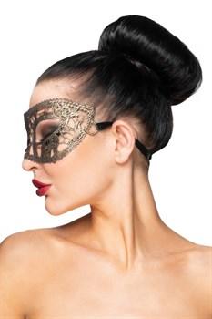 Золотистая карнавальная маска  Хатиса