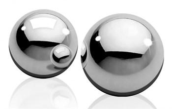 Серебристые металлические вагинальные шарики Light Weight Ben-Wa-Balls