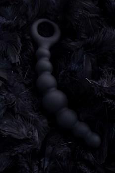 Черная анальная цепочка Carina - 19 см.
