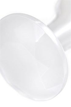 Белая акриловая анальная втулка - 8 см.