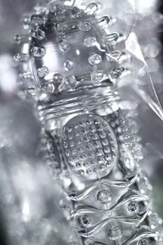 Прозрачная рельефная насадка на палец Hicks - 8,5 см.