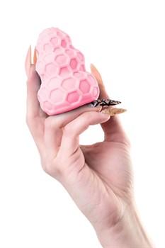 Розовый рельефный мастурбатор Flaff