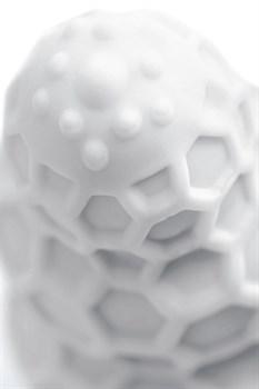 Белый рельефный мастурбатор Flaff