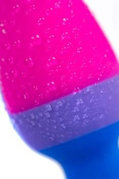Сине-розовая анальная втулка Brian - 7 см.