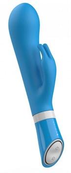 Голубой вибратор-кролик Bwild Deluxe Bunny - 19,3 см.