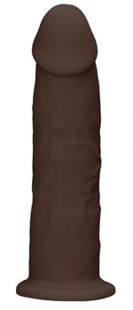 Коричневый фаллоимитатор без мошонки Silicone Dildo Without Balls - 19,2 см.