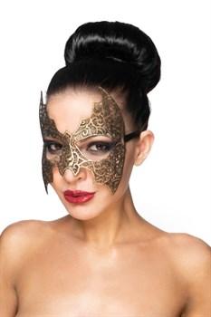 Золотистая карнавальная маска  Алиот