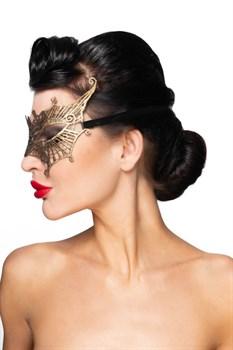 Золотистая карнавальная маска  Алькор