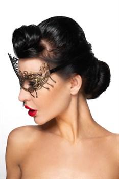 Золотистая карнавальная маска  Капелла