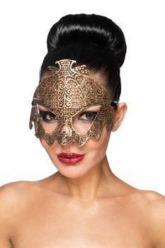 Золотистая карнавальная маска  Нави