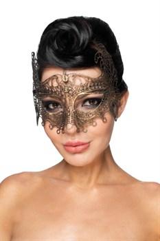 Золотистая карнавальная маска  Рукба