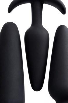 Набор из 3 черных анальных втулок Eridani