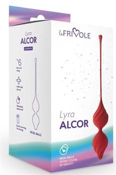 Бордовые вагинальные шарики Alcor