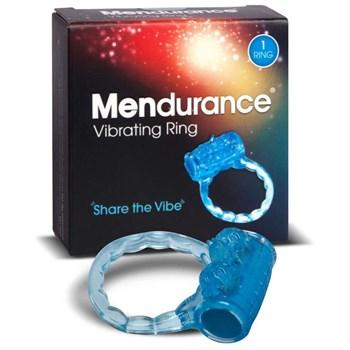 Синее эрекционное кольцо Mendurance Vibrating Ring
