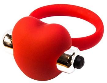 Красное эрекционное виброкольцо Infinity