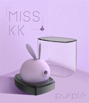 Фиолетовый вакуумный стимулятор клитора Miss KK