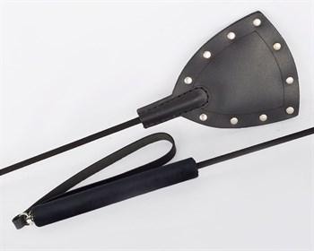 Черный стек  Готика  с заклепками - 67 см.