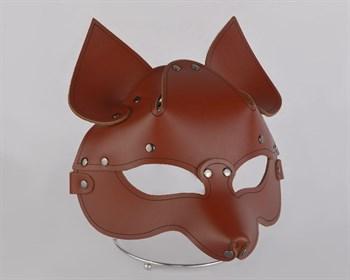 Коричневая кожаная маска  Лиса