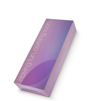 Фиолетовый клиторальный стимулятор Snello с функцией вибратора - 19,6 см.