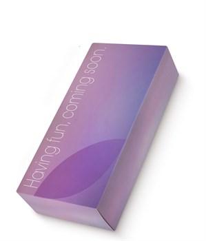 Фиолетовый клиторальный стимулятор Caldo с функцией вибратора - 19 см.