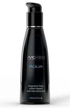 Легкий лубрикант с алоэ на водной основе Wicked AQUA - 120 мл.