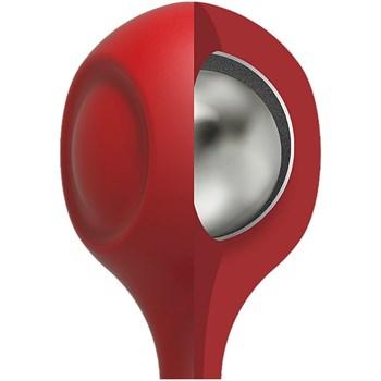 Красные утяжеленные анальные шарики Anal Essentials Weighted Silicone Anal Balls - 34,3 см.