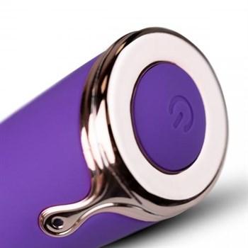 Фиолетовый вибратор-кролик The Queen Thrusting Vibrator - 29 см.
