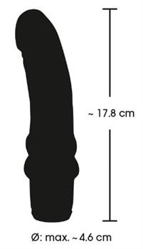 Сиреневый вибратор-реалистик Vibra Lotus - 17,8 см.