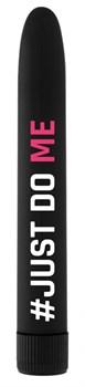 Черный гладкий вибромассажер Feelgood Vibe #Just do me - 17,2 см.