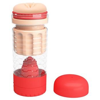 Вибромастурбатор-вагина Emily в красной колбе
