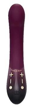 Фиолетовый вибратор Kurve с двумя моторами - 19,4 см.