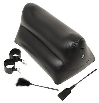 Надувная любовная подушка Portable Triangle Cushion с аксессуарами