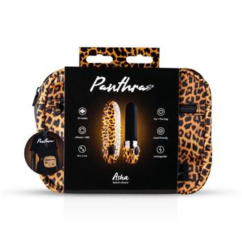 Леопардовый вибромассажер-помада Asha Lipstick Vibrator - 10 см.