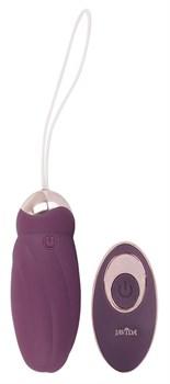 Фиолетовое виброяйцо Rotating Love Ball с пультом ДУ