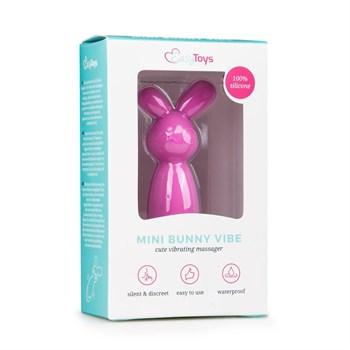 Розовый мини-вибратор Mini Bunny Vibe - 8 см.