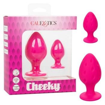 Набор из двух розовых анальных пробок Cheeky