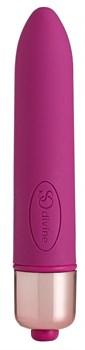 Ярко-розовая гладкая вибропуля Afternoon Delight Bullet Vibrator - 9 см.