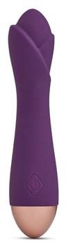Фиолетовый вибратор Ooh La La Flower Vibrator - 18 см.