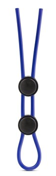 Синее двойное эрекционное лассо Silicone Double Loop Cock Ring