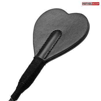 Черный стек с наконечником-сердечком - 54 см.