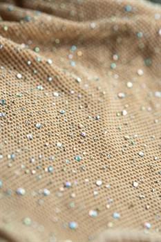 Эффектное коротенькое платье-сетка со стразами Cleo