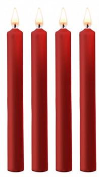 Набор из 4 красных восковых свечей Teasing Wax Candles Large