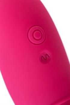 Ярко-розовый многофункциональный стимулятор клитора Blossy